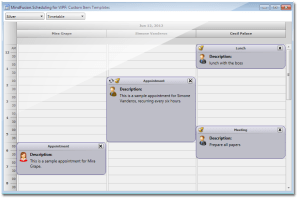 MindFusionScheduling for WPF  Calendar and Schedule Control, Time Management, Appointment