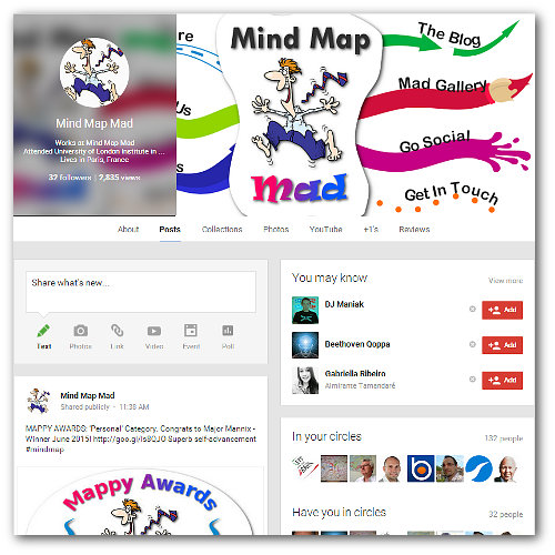 Mind Map Mad Google+ Page