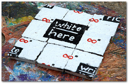 'White Here, Write Now' by Sab Will infini2.com