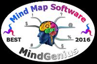 World's Best Mind Mapping Software 2016 Challenge - MindGenius mini badge