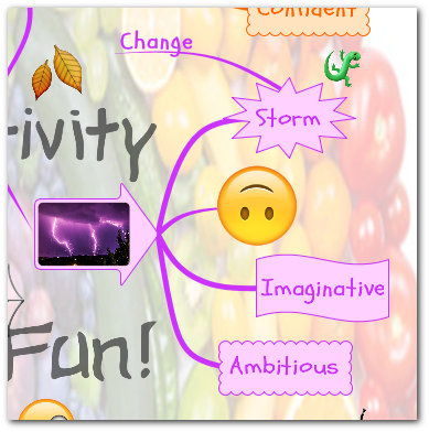 """rainbow teaching learning values"" mind map purple branch"