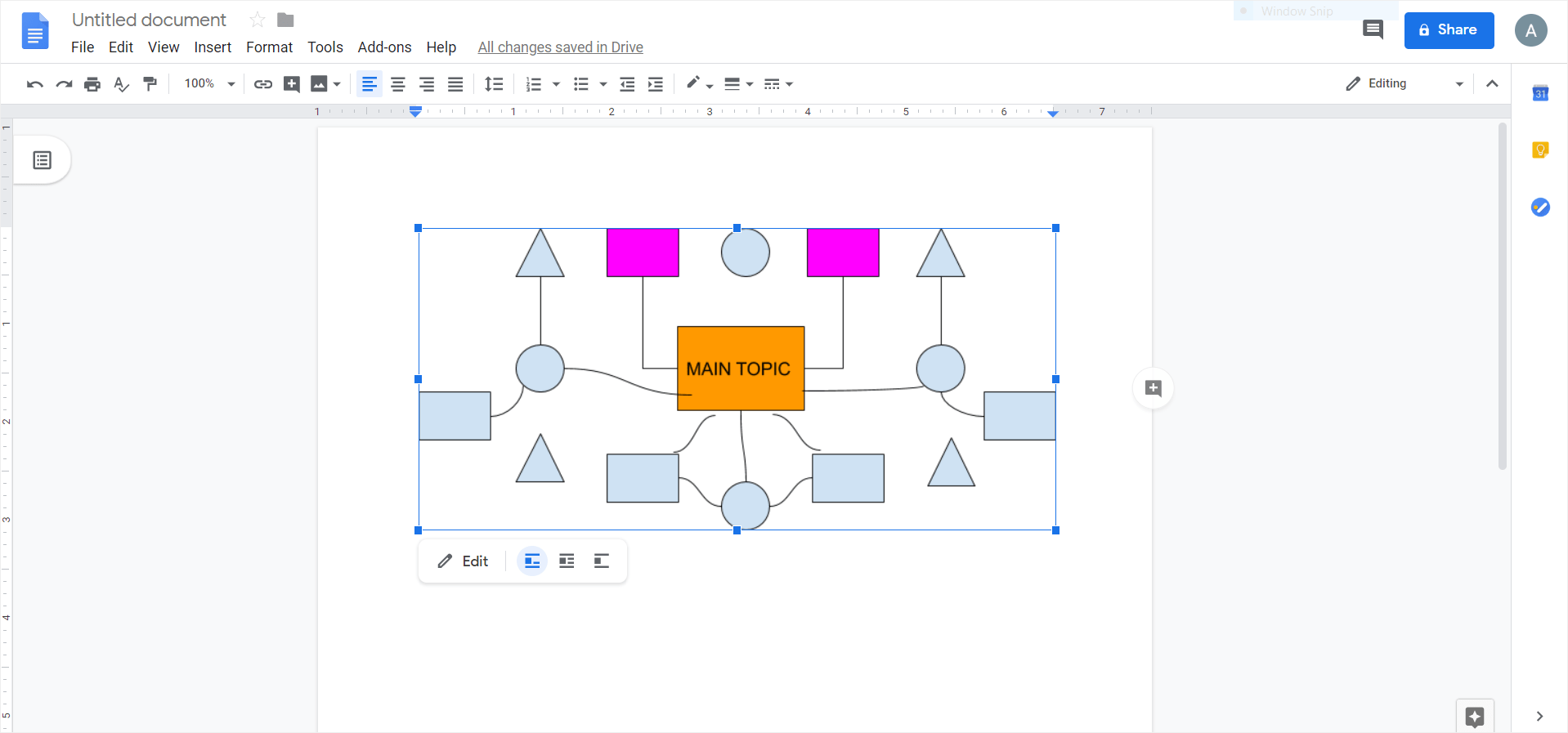 how to make a mind map in google docs