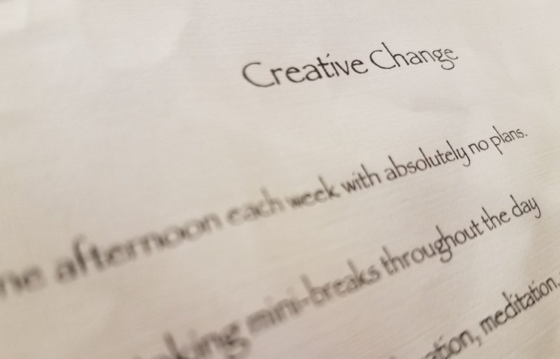 creative change list