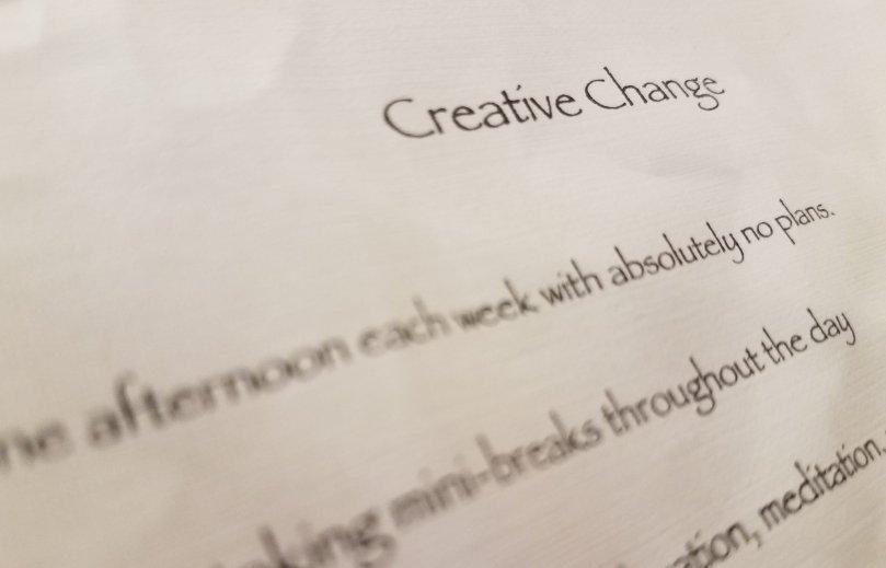 The Creative Change Challenge