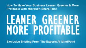 Microsoft SharePoint Video: Leaner, Greener, More Profitable