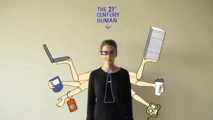 Screen Digital Junkie Mensch des 21. Jahrhunderts