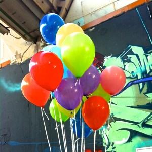 Startup Kommunikation Social Media Luftballons
