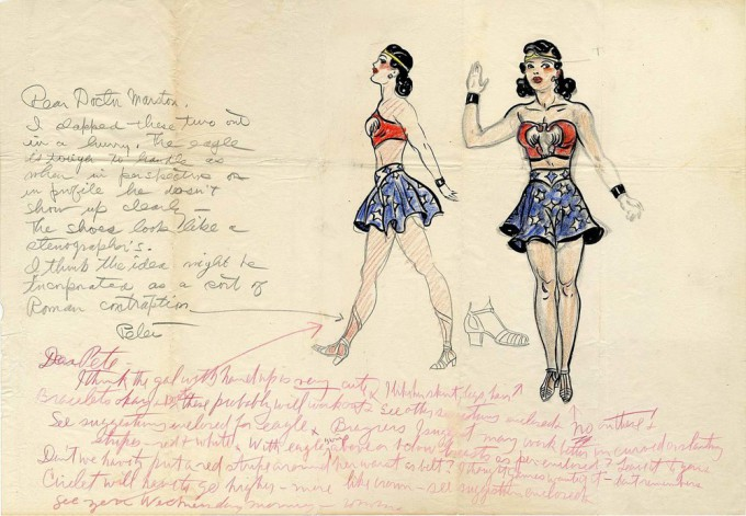 the-first-sketch-of-wonder-woman-ever-is-for-sale