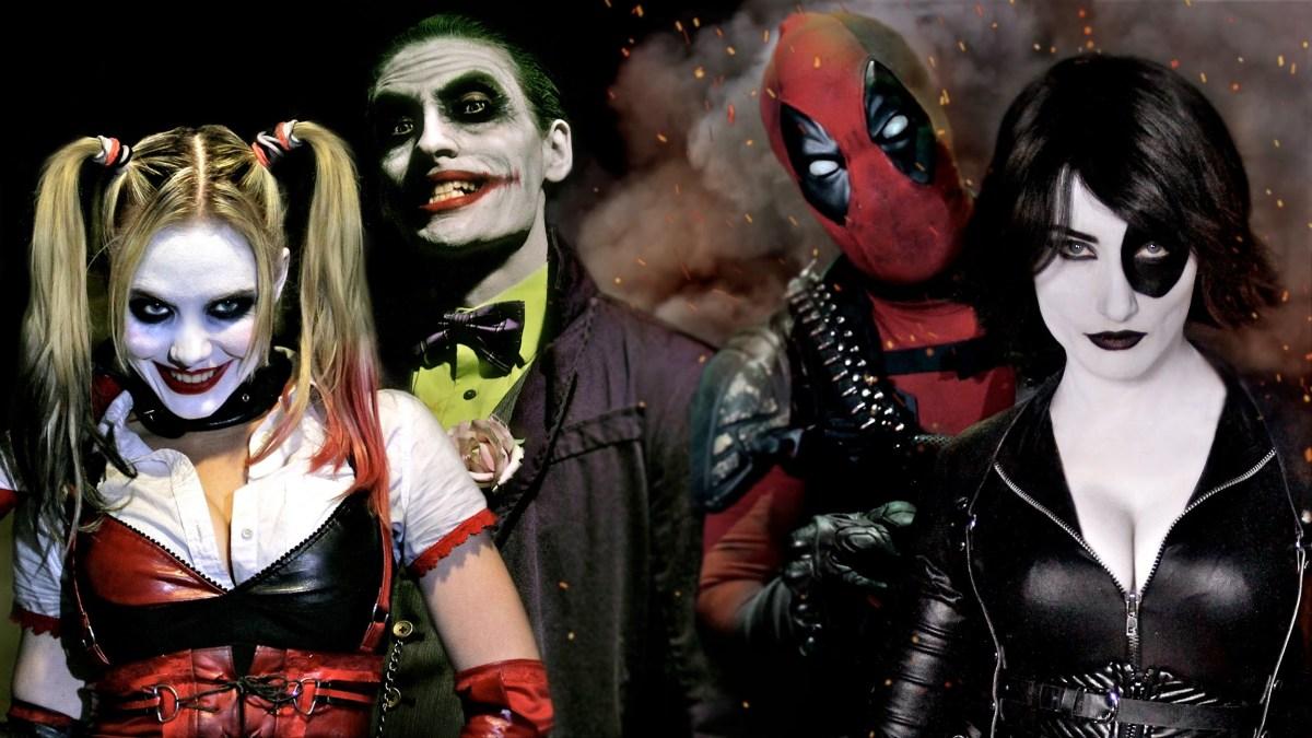 Super Power Beat Down: Deadpool & Domino vs. Joker & Harley Quinn