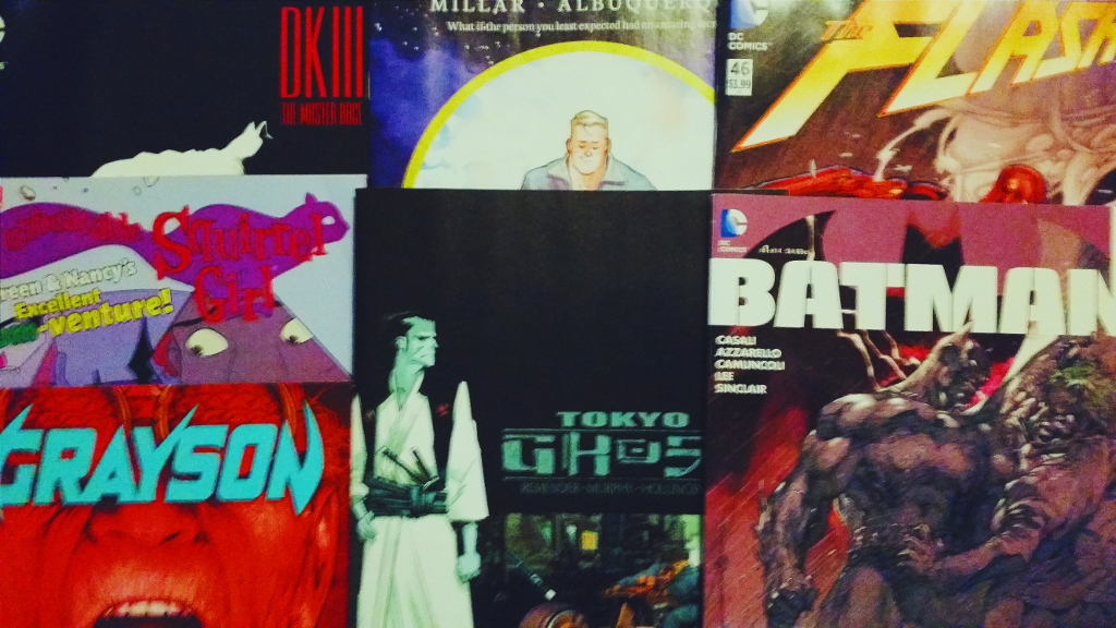 Mein Comic Haul vom 25.11.2015 (Godzilla in Hell, Huck, Grayson, Dark Knight III, Batman in Europa uvm)