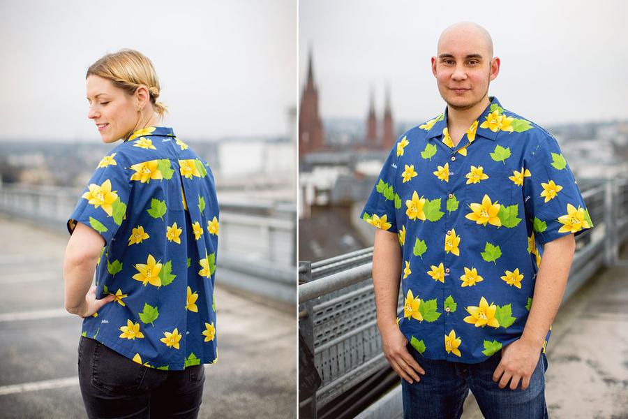 Aloha Deutschland möchte gerne Hawaiihemden mit deutschen Motiven produzieren