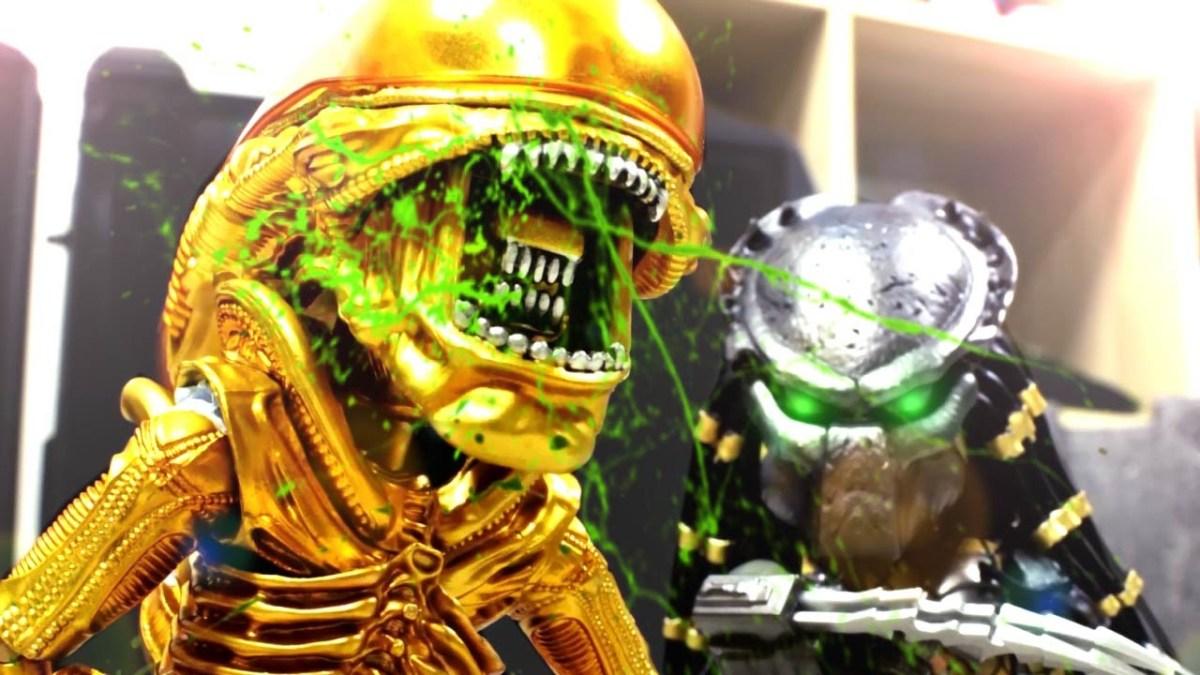 Alien vs. Predator (mit Bobba Fett) in einer beeindruckenden Stop Motion