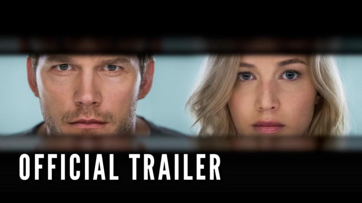 """Im Trailer zu """"Passengers"""" wachen Chris Pratt und Jennifer Lawrence zu früh aus dem Tiefschlaf auf einem Raumschiff auf"""