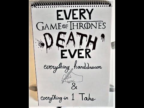 """Jeder namhafte Tod aus """"Game of Thrones"""", handgezeichnet und clever montiert"""