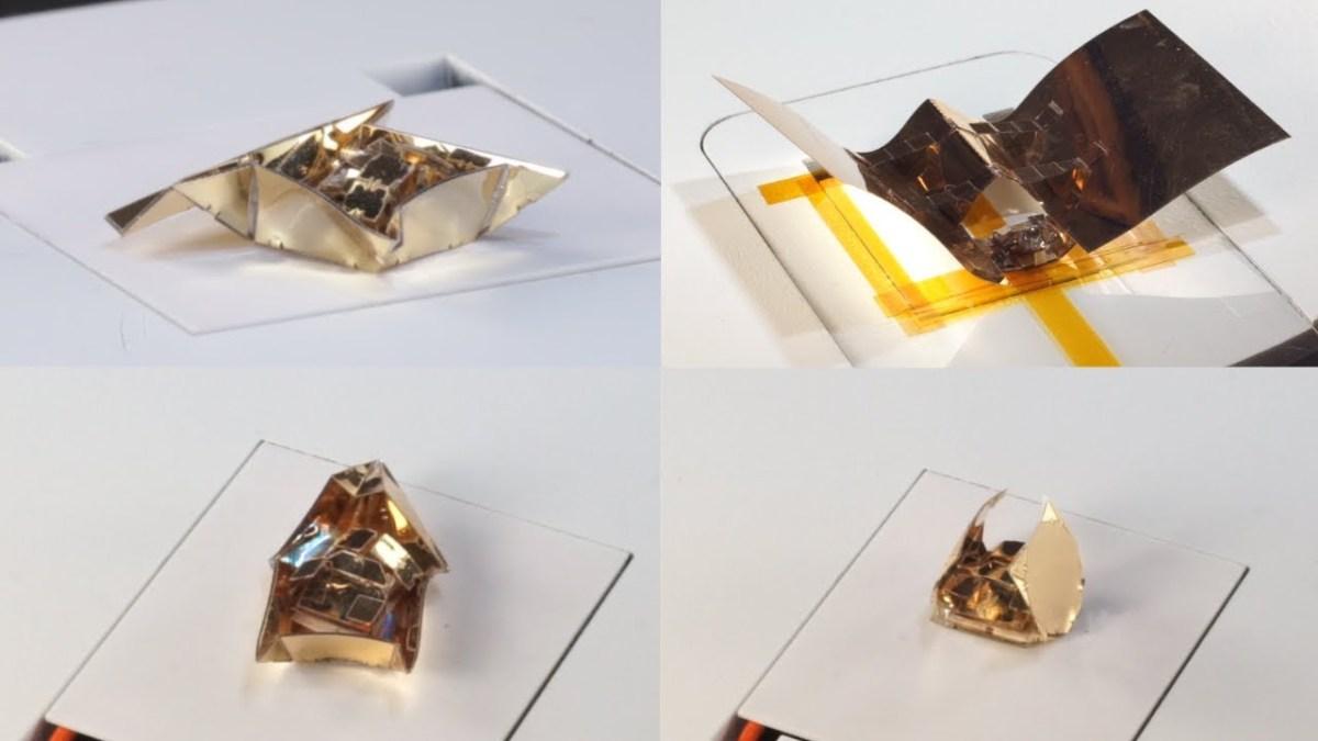 Primer ist ein kleiner Roboter, der sich mittels Origami Exoskelette baut