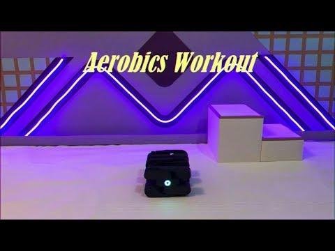 Ein sechsbeiniger Roboter bei seiner 80s-Aerobic-Routine
