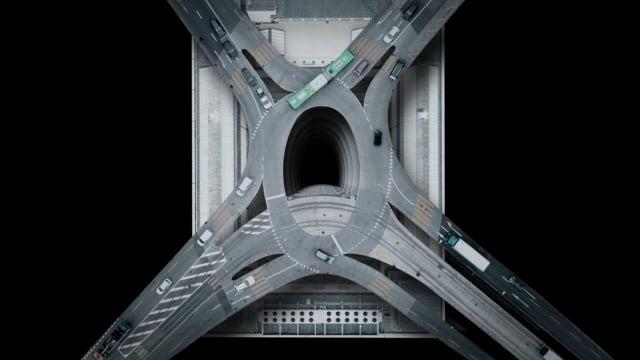 """""""LUFTRAUM"""" von Dirk Koy zeigt uns surreale Kompositionen von Straßen und Autos"""
