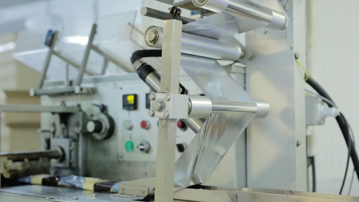 Ein Blick in eine Eisfabrik