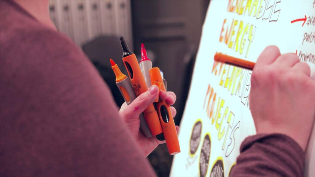graphic recording in action with Mind's Eye Creative