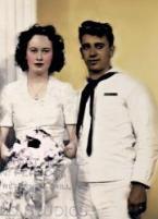 Ed et Lorraine lors de leur mariage