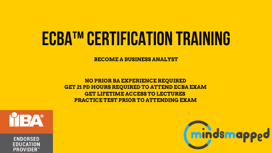 Entry Certificate in Business Analysis™ | ECBA™ Certification – (Course to be launched soon)