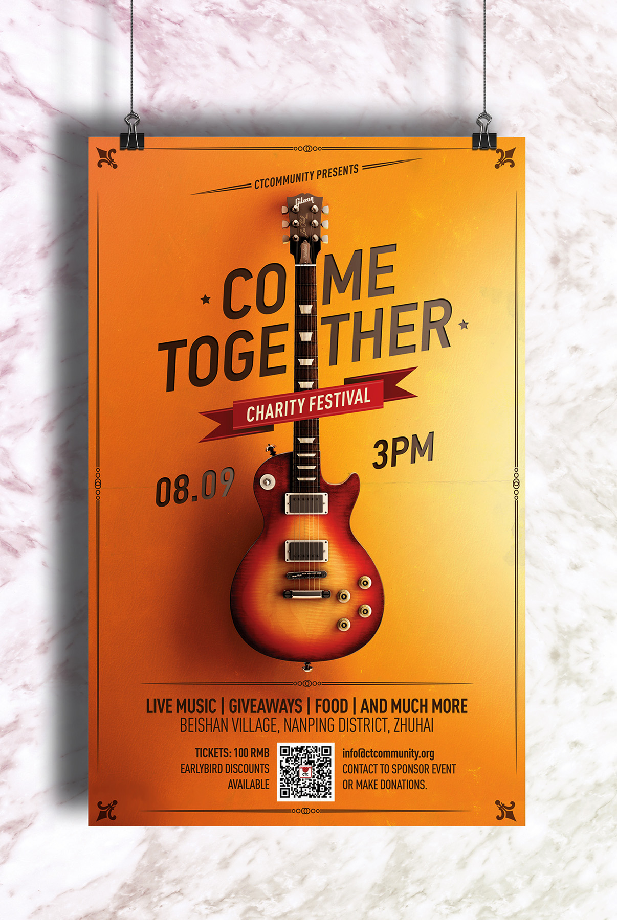 Preparing for Come Together Charity Rock Concert 2018