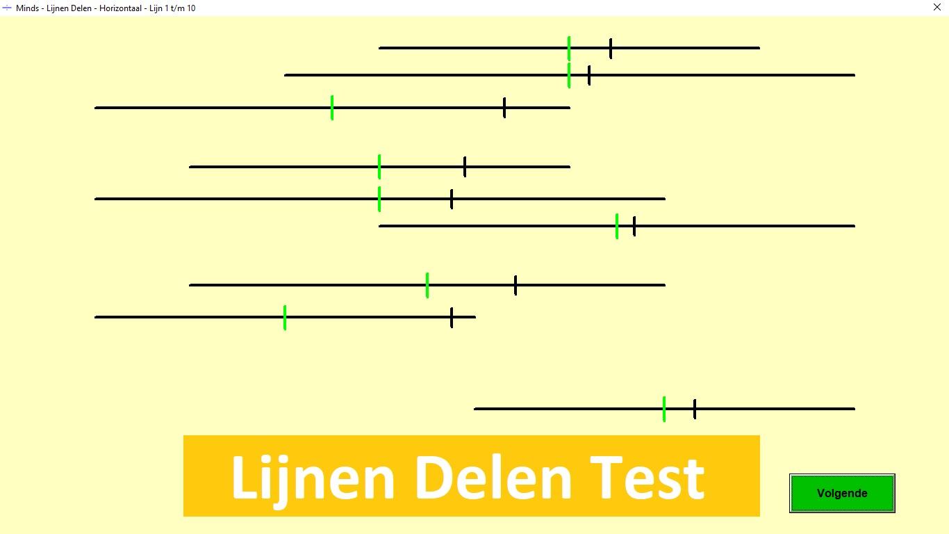 Lijn Lijnen Delen Neglect Test Testmanager Minds