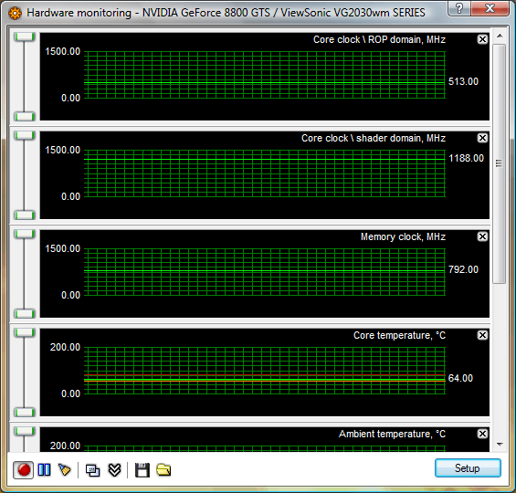 Hardware Monitoring window (information about your graphics card)