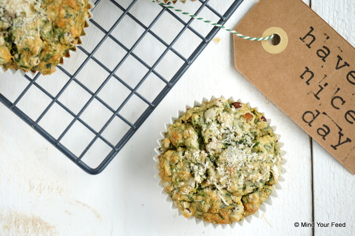 Boekweitmuffins met spinazie