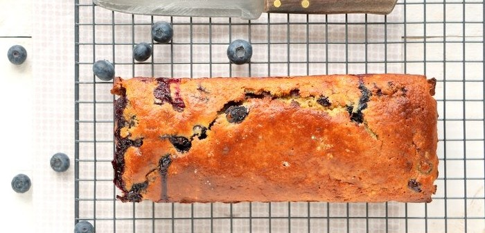 blauwe bessen pistache cake