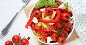 pasta met geroosterde paprika