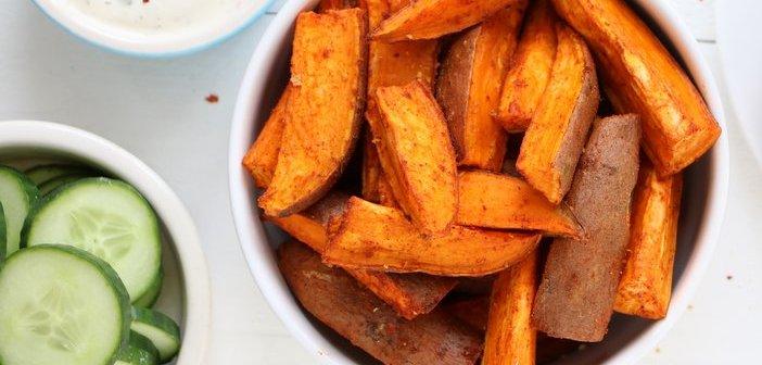 zoete aardappel wedges