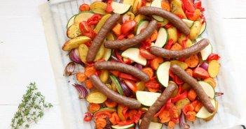 Italiaanse groenten met worstjes