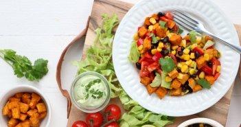 Mexicaanse zoete aardappel salade