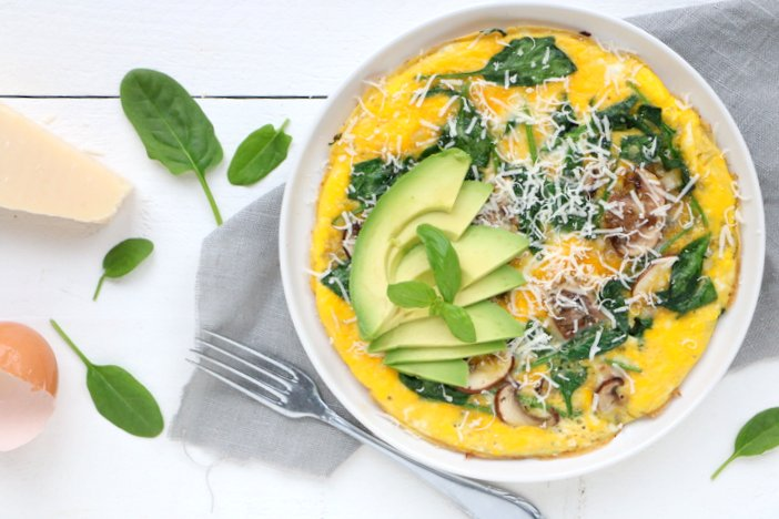 spinazie omelet