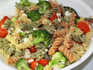 Are you looking for a quick and easy pasta salad? Well this is just the recipe for you, it is easy and versatile.