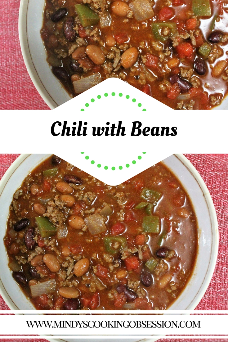 Are you looking for an easy chili recipe? Visit www.mindyscookingobsession.com for quick and easy chili with beans recipe. It is a great make ahead meal because it freezes well also.