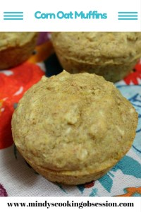 Looking for a quick and easy lowfat wheat corn oat muffins? Well these muffins combine oats, wheat flour and cornmeal. www.mindyscookingobsession.com