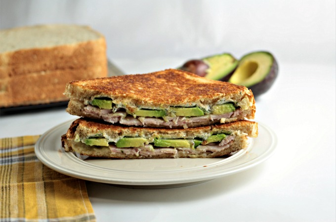 Grilled Turkey Avocado Ranch Cream Cheese Sandwich