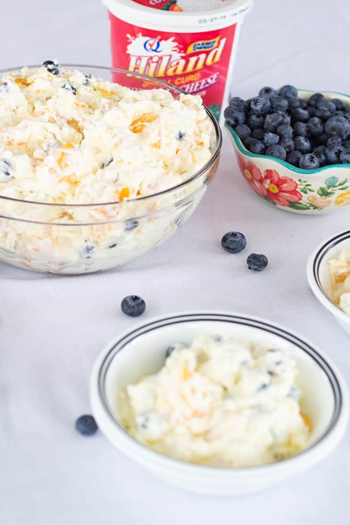 Fine Peach Blueberry Fluff Salad Mindys Cooking Obsession Home Interior And Landscaping Eliaenasavecom