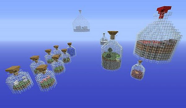 image of a jars in the survival map world in a jar.
