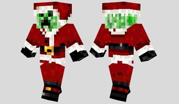 Santa Creeper Skin for Minecraft
