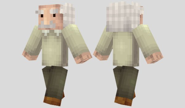 Albert Einstein Skin for Minecraft