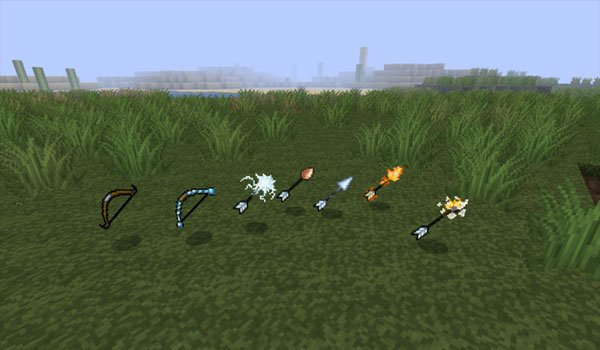 Elemental Arrows Mod for Minecraft 1.6.2 and 1.5.2