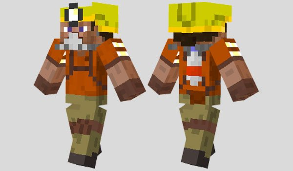 Safety Miner Skin for Minecraft