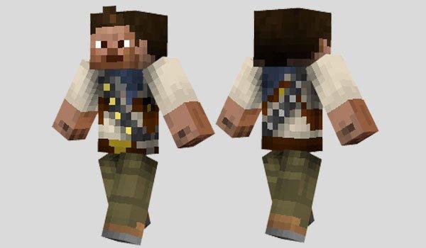 Nathan Drake Skin for Minecraft