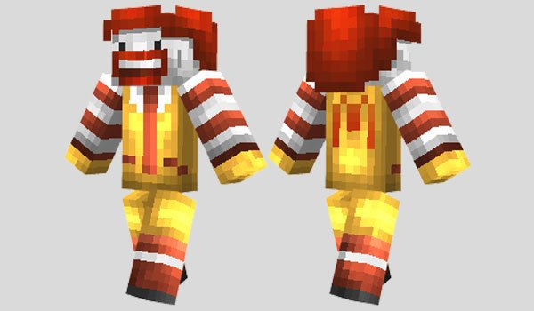 Ronald McDonald Skin for Minecraft