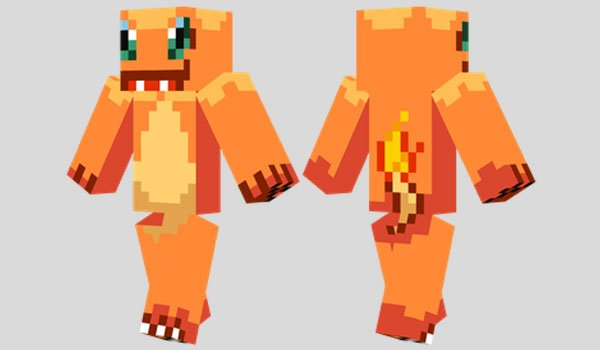 Charmander Skin for Minecraft