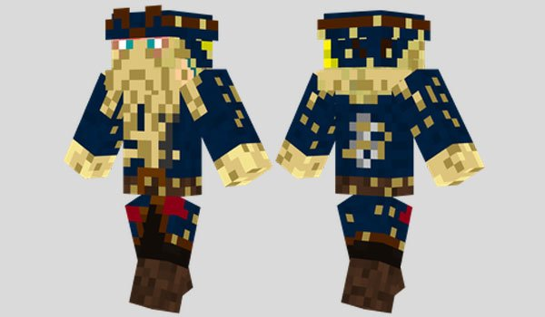 Davy Jones Skin for Minecraft