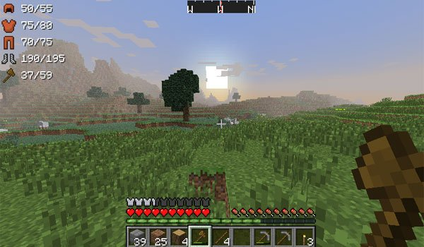 ArmorStatusHUD Mod for Minecraft 1.7.2 and 1.7.10